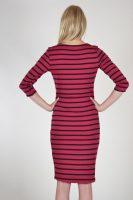 Dovely & Jo jurk rood-zwart gestreept