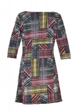 Vegas jurk multigeblokt