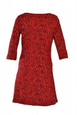 Vegas jurk roos rood/zwart