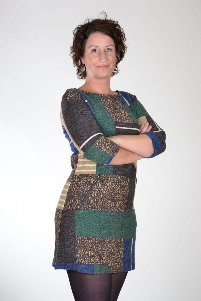 Vegas jurk panter groen