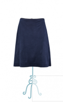 Le Pep skirt Balou suedine blauw