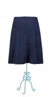 Le Pep skirt Balou suedine blauw achterkant