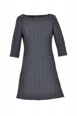 vegas jurk zwart ruit