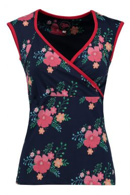 Tante Betsy summer cross top poppy navy