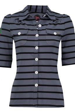 Tante Betsy blouse stripe grey