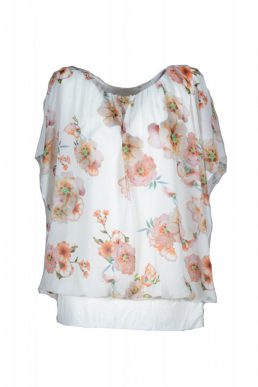 Sensi wear top wit met bloem