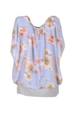 Sensi wear top donkerblauw met bloem