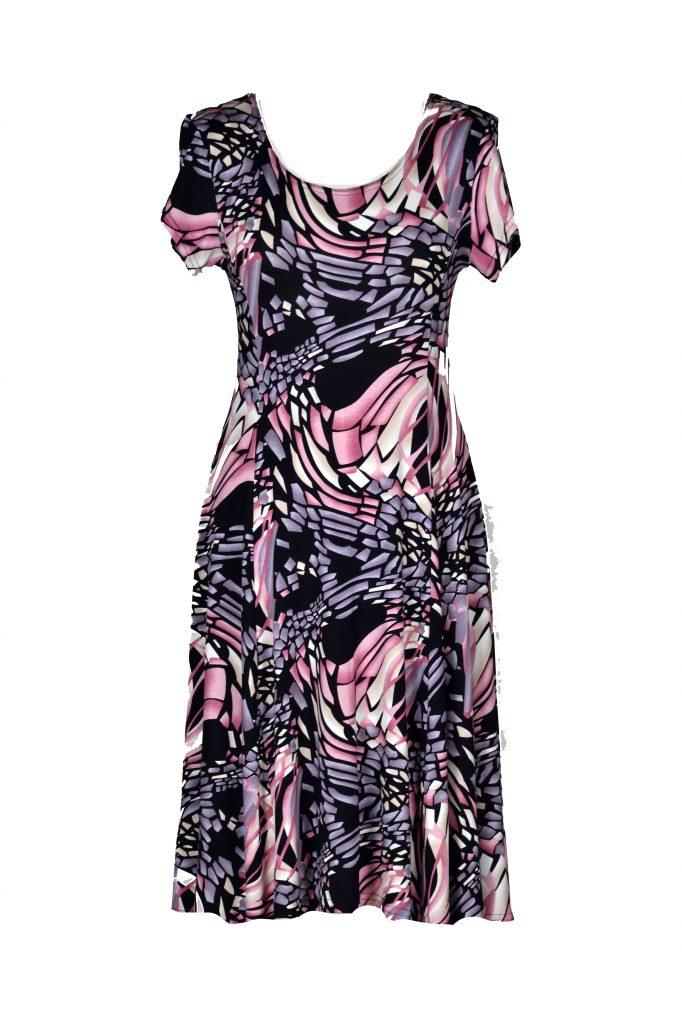 Stella Moretti abstracte vormen roze voor