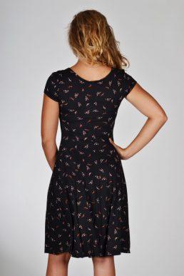 Realize jurk zwart met kleine veertjes