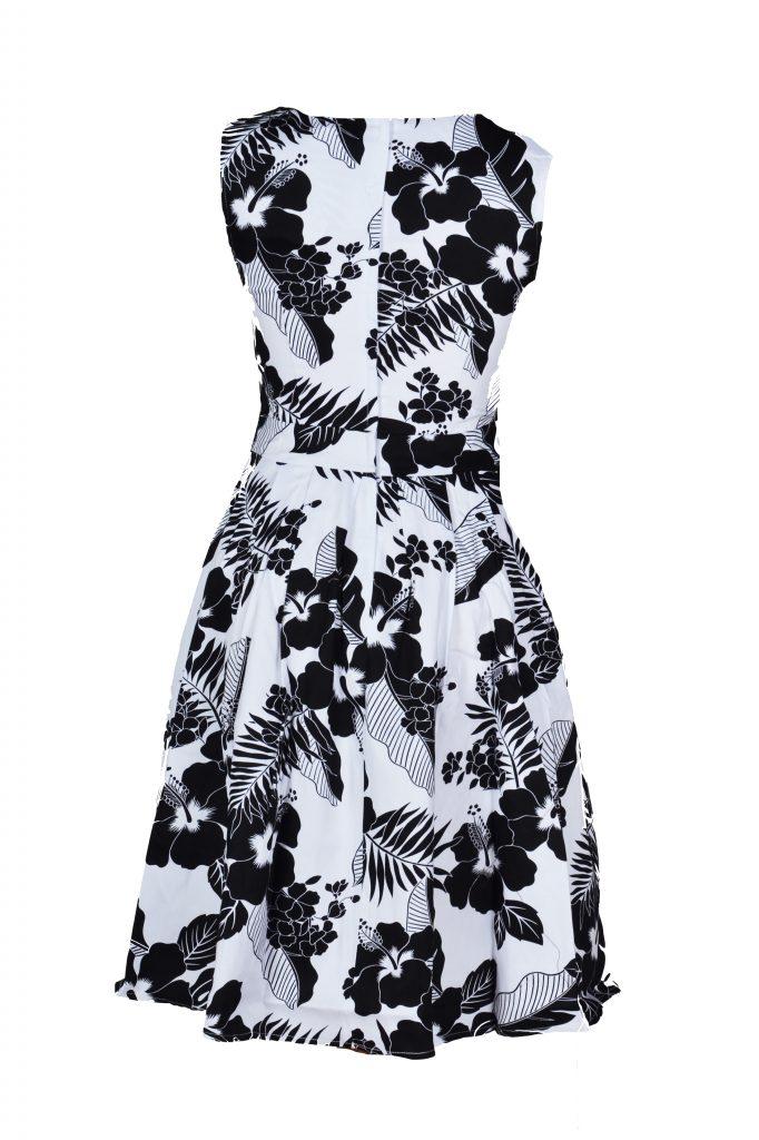 jurk zwart met wit