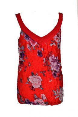 Sensi Wear top bloemen rood achter