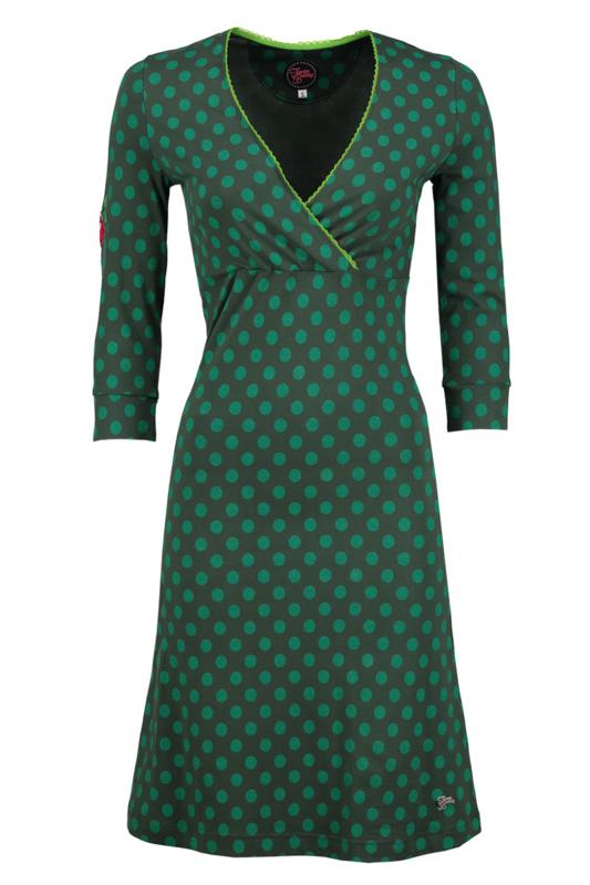 Tante Betsy dress crossover little dot green