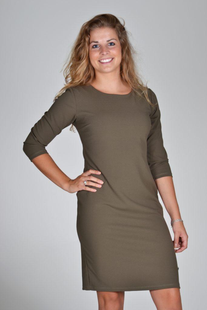Fos jurk olijf groen