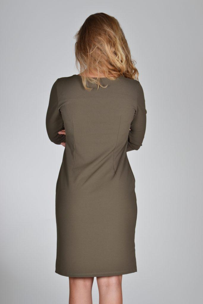 615e34d0920a40 Fos jurk olijf groen
