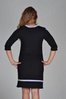Sensi Wear jurk v-hals zwart
