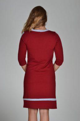 Sensi Wear jurk v-hals bordeaux rood