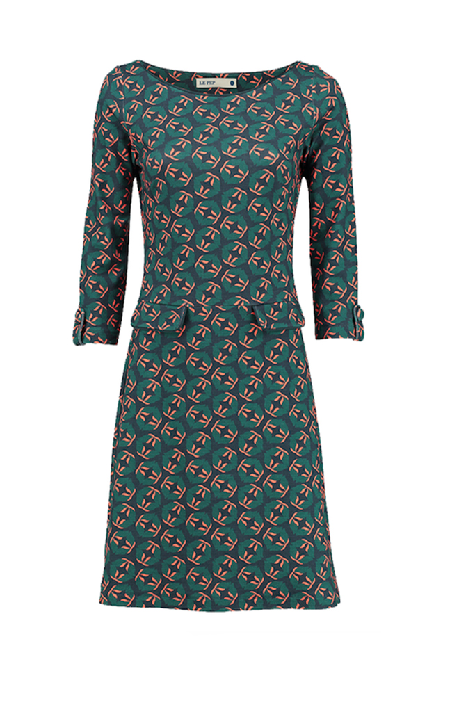 Le Pep dress Dalie groen