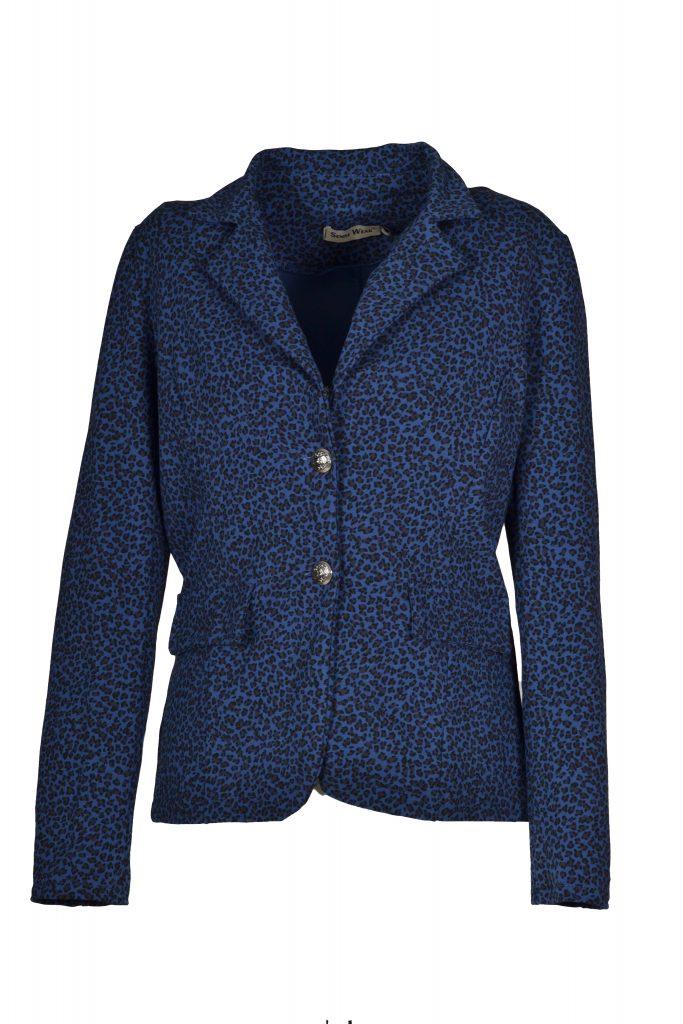 sensi wear panter jasje blauw voorkant