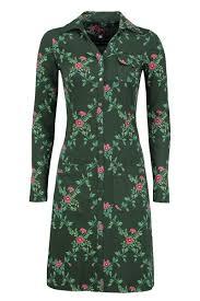 Tante Betsy dress Snappie Flower Branch groen