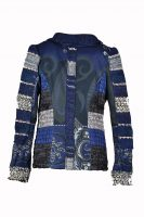 Lulu patchwork blazer marine blauw