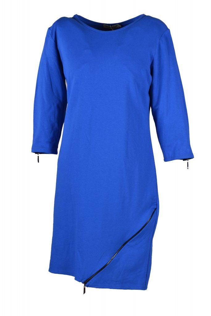 sensi wear jurk rits blauw