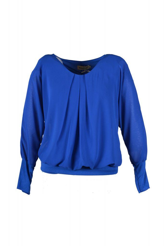 sensi wear top blauw voorkant