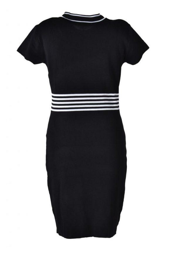 Blueberry jurk zwart wit raster