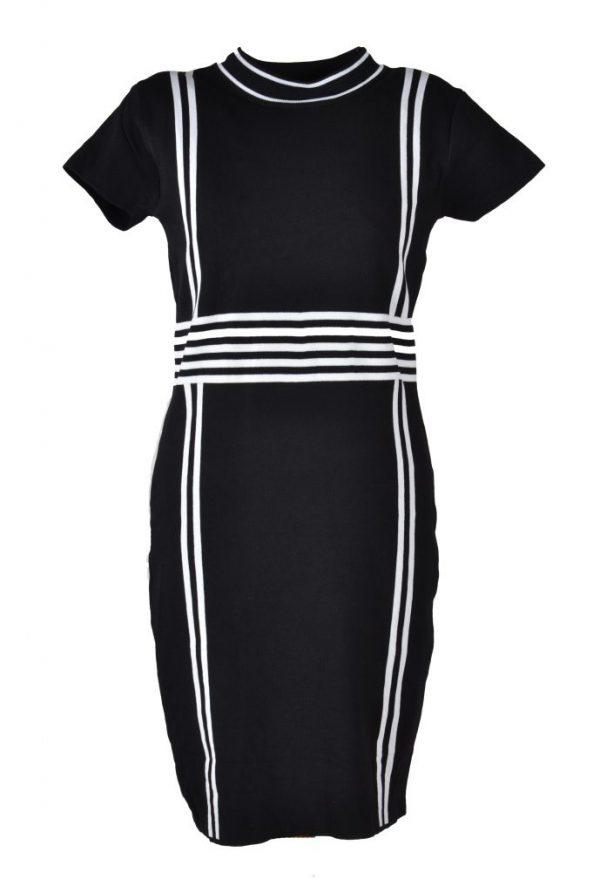 Blueberry jurk zwart wit raster voor