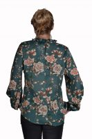 Blueberry blouse voile groen bloemen achter