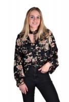 Blueberry blouse voile bloemenprint