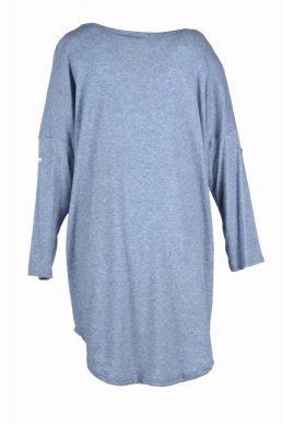 sensi wear trui licht blauw achterkant
