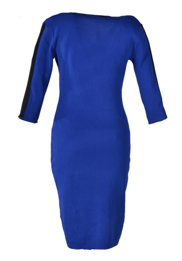 Blueberry jurk kobalt streep achter