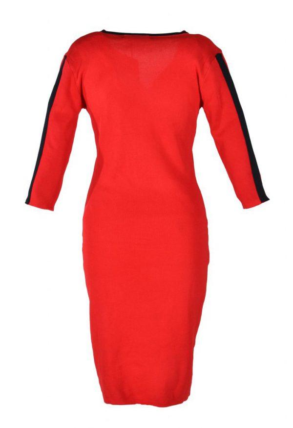 Blueberry jurk rood streep achter