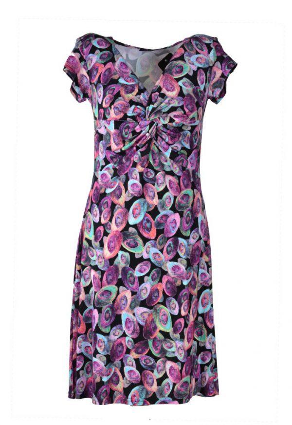 Angelle Milan jurk gekleurde ovalen