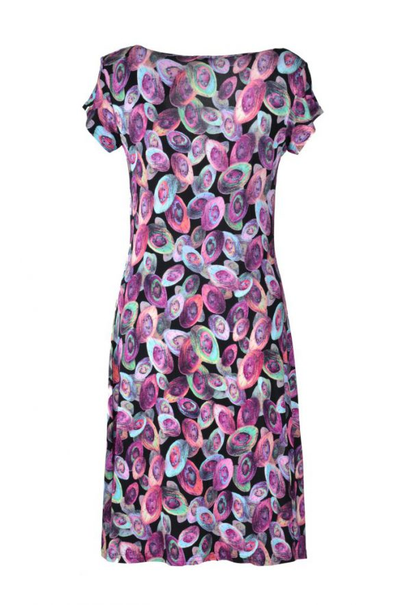 Stella Moretti  jurk gekleurde ovalen achter