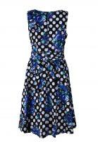 Stella jurk mouwloos met blauw bloemen achter