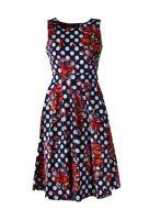 Stella jurk mouwloos rode bloemen