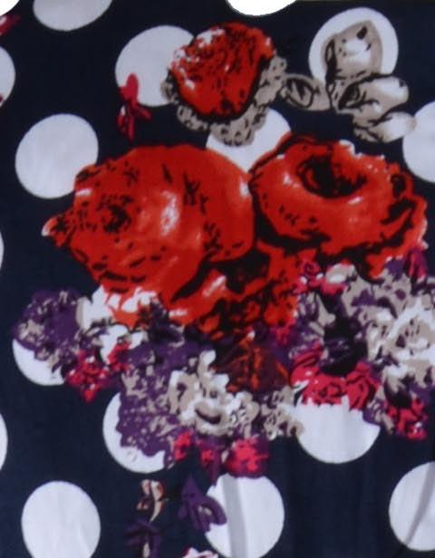 Stella jurk mouwloos rode bloemen patroon
