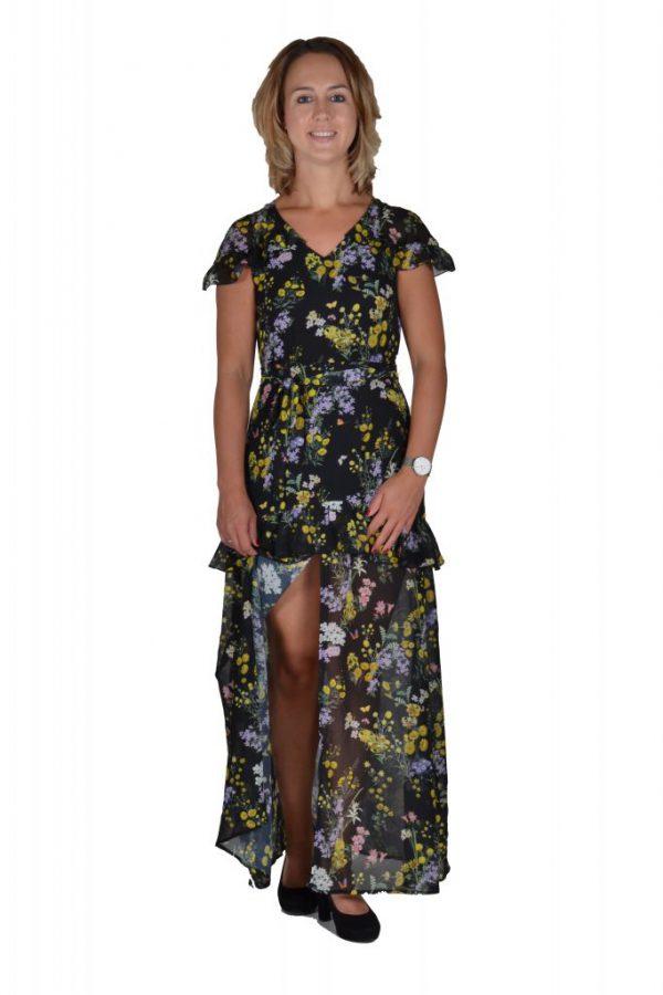 101 Idees jurk lang bloemenprint
