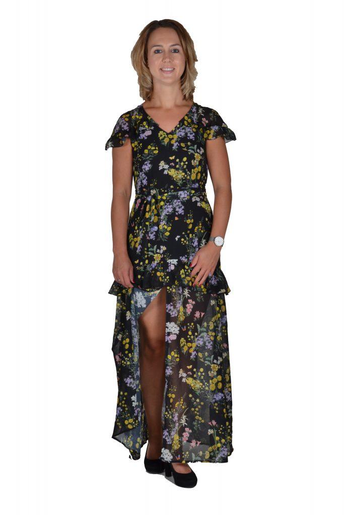 5fc88d92975e78 101 Idees jurk lang bloemenprint ...
