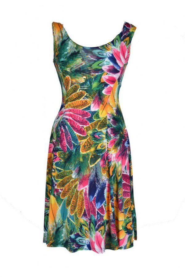 Adnice jurk mouwloos exotisch