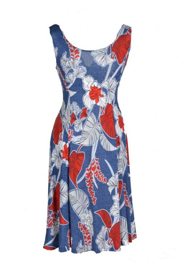 Adnice jurk mouwloos rood blad