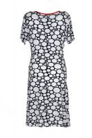 Angelle Milan jurk overslag witte stippen achter