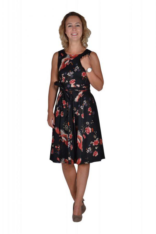 Stella jurk zwart flora en fauna