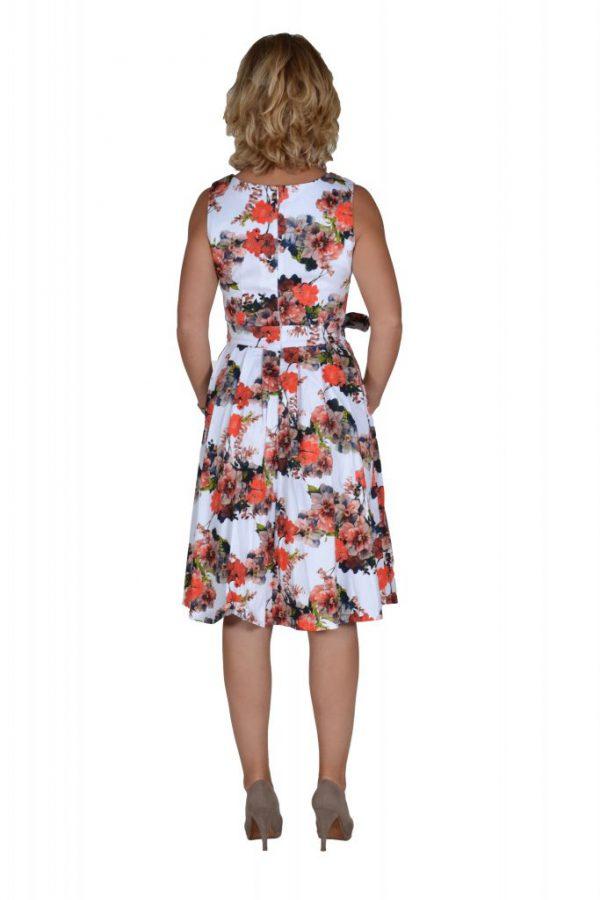 Stella jurk bloemen oranje achter
