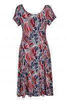 Stella Moretti jurk abstracte bloem achter