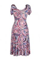 Stella Moretti jurk cirkels pastel roze