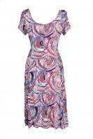 stella moretti  jurk cirkels pastel roze achter