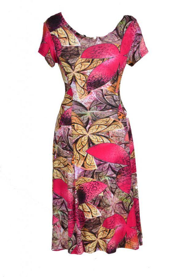 Debbie Morgan jurk grote roze bloem achter