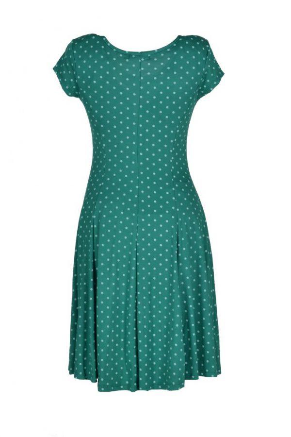 Realize jurk groen poldadot achter